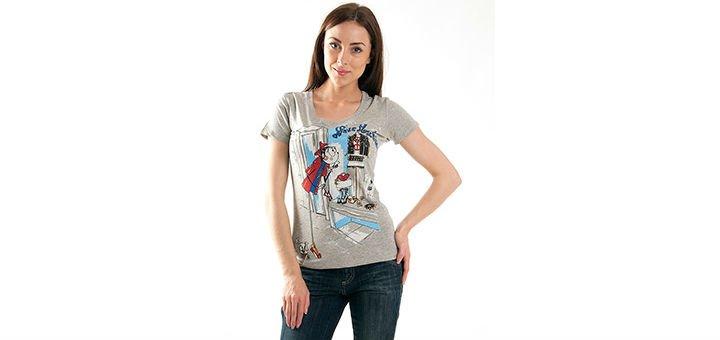 Женские футболки, майки и топы в интернет-магазине Moda-Z. Покупайте  брендовые женские вещи по акции. 8ecec6736f7