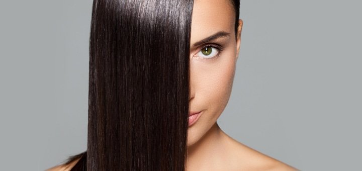 Кератирование (Бразильское выравнивание) волос любой длины в салоне красоты «Hollywood» на Оболони!