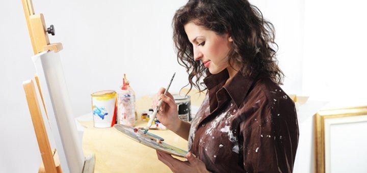 Время творить! Абонемент на 4, 8 или 12 занятий живописью в студии «LOVE-ART»!