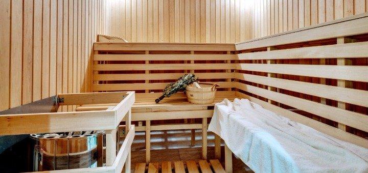До 3 часов посещения финской сауны с бассейном в комплексе «Золотой Шафран»