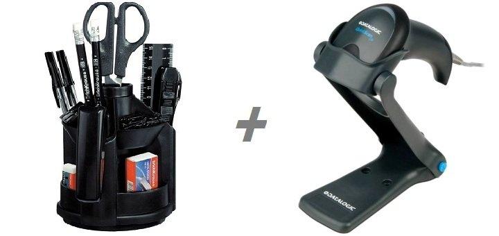 При покупке сканера штрих кодов «Datalogic QuickScan Lite QW2120»- канцелярский набор в подарок