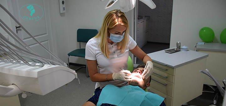 Ультразвуковая чистка зубов с AirFlow и полировка пастами в Медицинском Центре «Цертус»