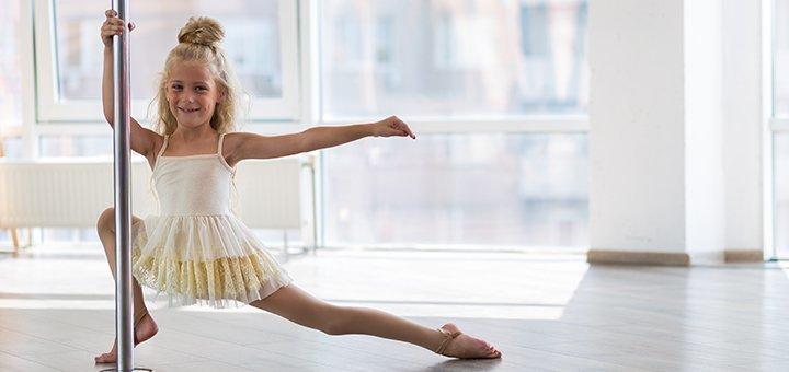3 месяца занятий Pole dance для детей в школе танцев на пилоне «Belle Four»