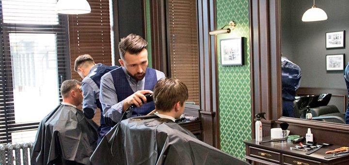 Мужская стрижка, укладка и коррекция бороды в барбершопе «Syndicate»