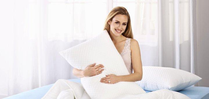 Скидка 50% на набор одеяло и подушка «Слип Сенсейшн Dormeo»
