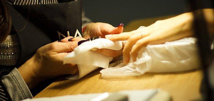 До 5 сеансов маникюра с покрытием гель-лаком и укреплением ногтей в студии «Nail Kitchen»