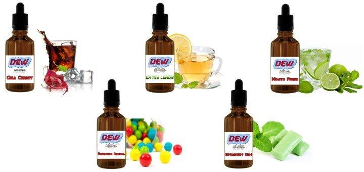 Скидка 20% на жидкость для электронных испарителей «DEW»