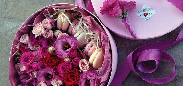 Cкидка 10% на sweet box от цветочной студии «AnneMaria»