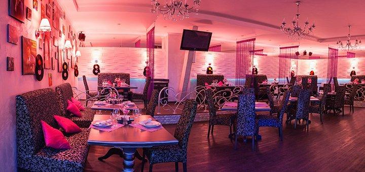 Скидка 50% на всё меню кухни и алкогольные коктейли в Lounge & music restaurant «Soul Time»