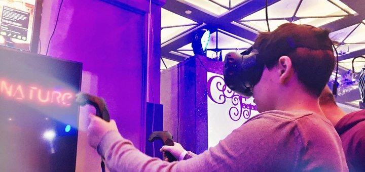 До 3 часов игры в очках виртуальной реальности HTC VIVE и Playstation от клуба «VNATURE»