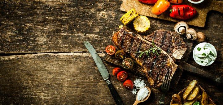 Безлимитное мясное меню «Мясо шара» со скидкой 50% в ресторане «Братский»