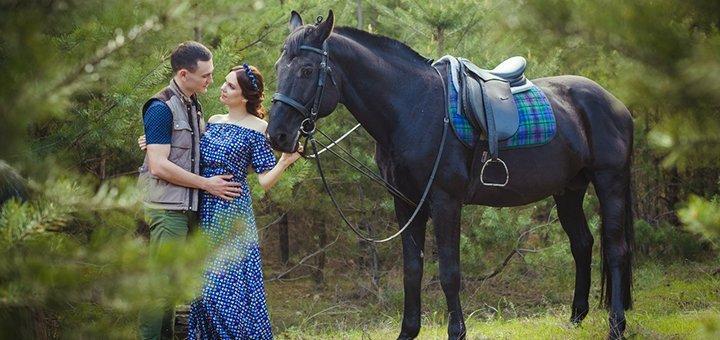 Скидка до 57% на уроки верховой езды и прогулки по лесу на лошадях в клубе «Серебряная подкова»