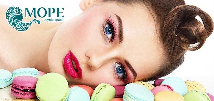 Перманентный макияж губ, век или бровей в студии красоты «Море» всего от 259 грн.!