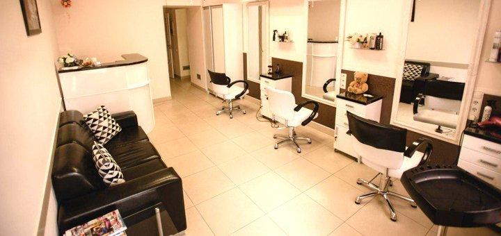 Стрижка с укладкой и окрашивание волос в салоне красоты «Mon Chéri»