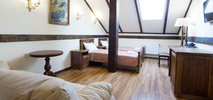 2 дня отдыха в стилизованном под средневековый замок отеле «Фортеця Гетьмана» под Киевом