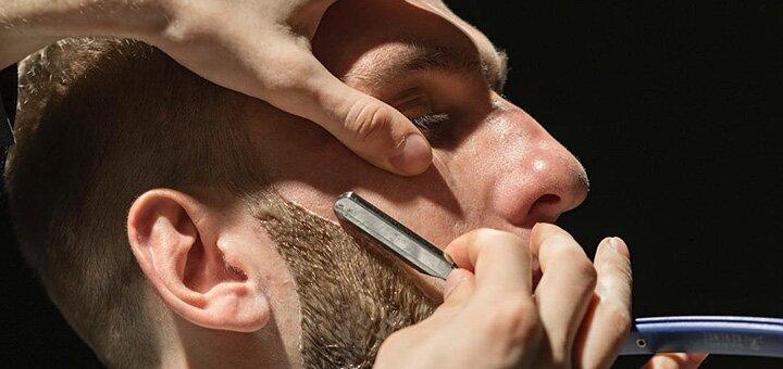 Мужская стрижка, укладка и коррекция бороды в барбершопе «Bulldog Barbershop»