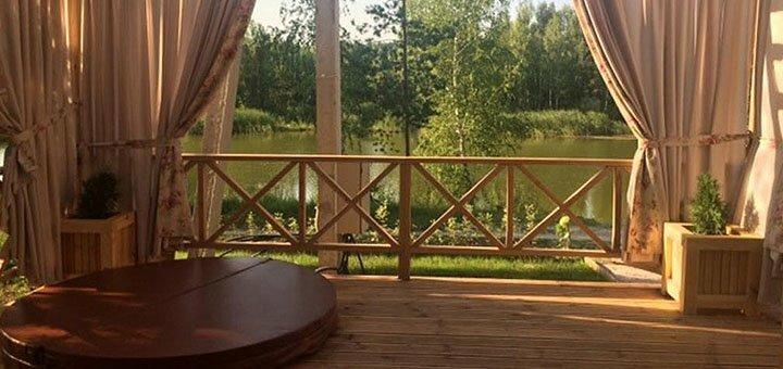 Скидка 20% для троих на проживание в коттеджах комплекса «Relax Villa Poduszka» под Киевом