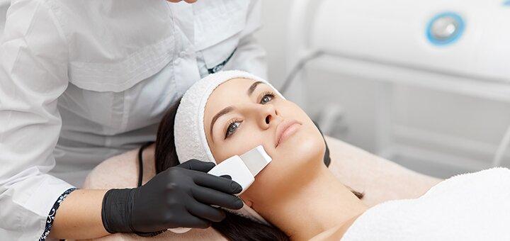 Ультразвуковая или комбинированная чистка лица в салоне аппаратной косметологии «Lady Luxe»