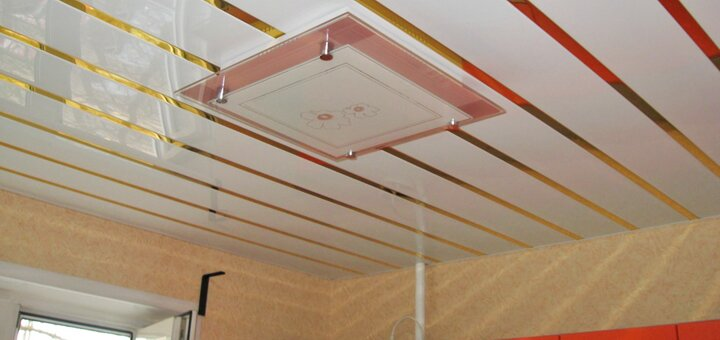 Скидка 10% на реечный алюминиевый потолок «Бард»