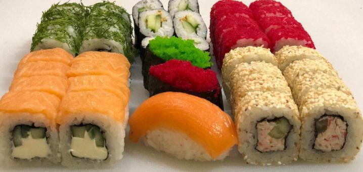 Скидка 50% на килограммовый сет «Сытный» от сети кафе-магазинов «Суши Сет»