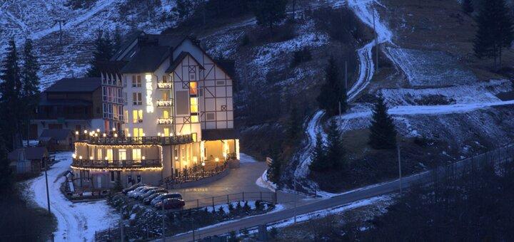 От 4 дней празднования Нового года с банкетом и развлечениями в отеле «Терем» в Славском