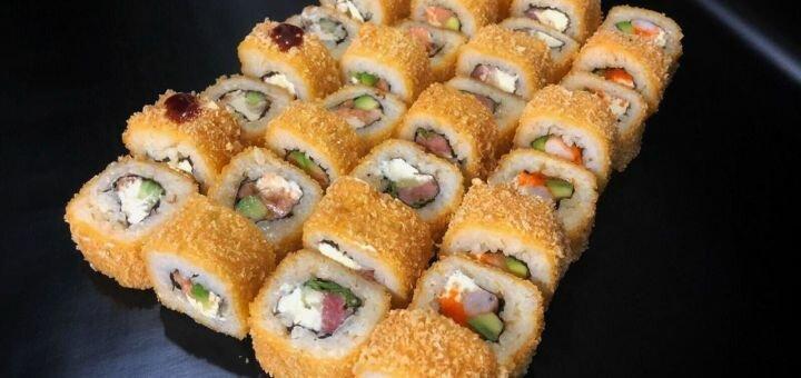 Скидка 50% на всё меню кухни с доставкой или самовывозом от компании «Рыба Рис»