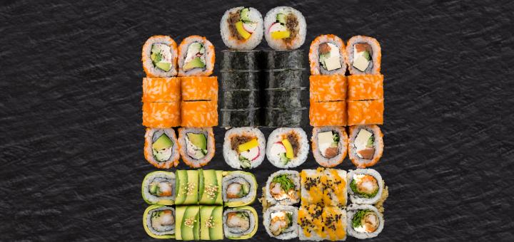 Знижка 40% на суші-сети з доставкою чи самовивозом в мережі ресторанів «Япона Хата»